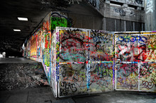 Teen Graffiti On The Wall