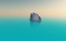 Digital Art. Iceberg In Quiet ...
