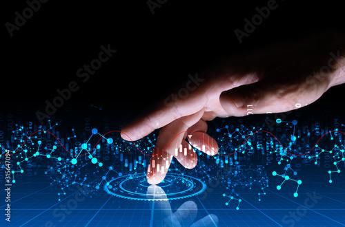 Valokuva mano, dito, tablet, scienza