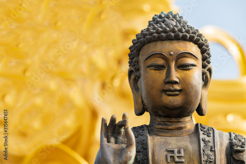 Buddha statue used as amulets of Buddhism religion.
