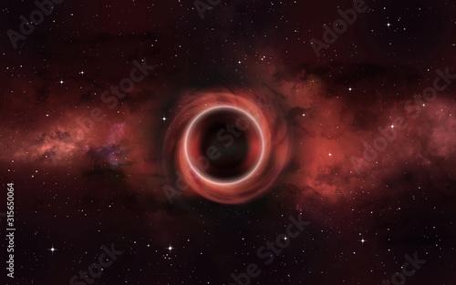Photo Deep Space black hole illustration