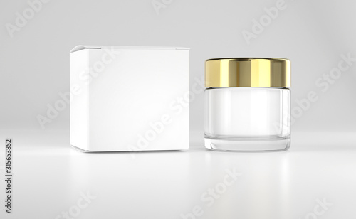Photo Face cream pot, glass container