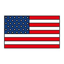 Isolated Usa Flag Vector Design