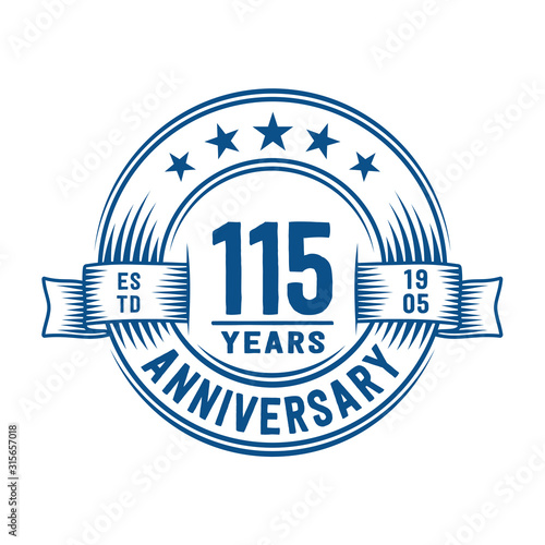 115 years logo design template Canvas Print