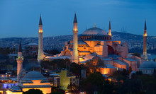 Lights On Hagia Sophia And Fir...