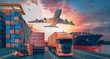canvas print picture - Transportation and logistics.