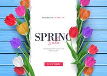 Spring Sale Promo With Colorfu...