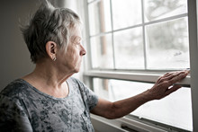 A Sad Lonely 70 Years Old Senior In Is Apartment
