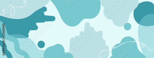 Εκτύπωση καμβά Horizontal abstract banner background in modern colors, in popular flat art styl