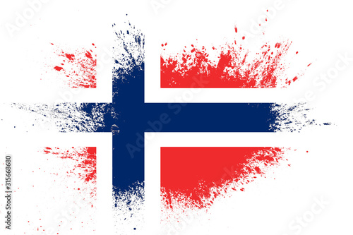flag of norway with texture. template for design Canvas Print