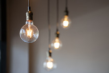 Vintage Light Bulb Hanging Fro...