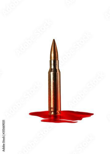 Canvas Print Blood bullet