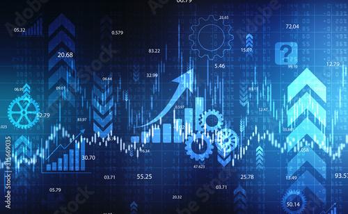 Fotografía  Stock market chart