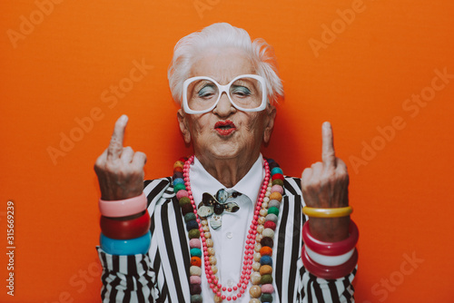 Foto Funny grandmother portraits