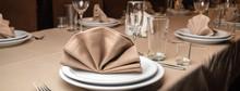 Elegant Table Set For Dinner