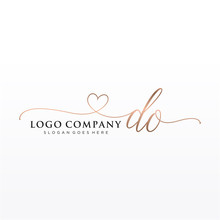 Initial DO Beauty Monogram And...
