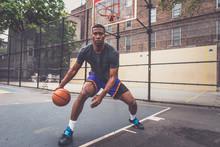 Basketball Player Training On ...