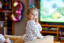 Cute Little Toddler Girl In Ni...