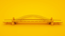 Bridge On Yellow Background. M...