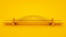 Bridge On Yellow Background. M...