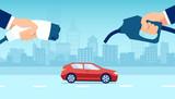 Vector concept electric vs gasoline car choice