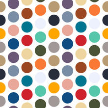 Seamless Dot Pattern With Spri...