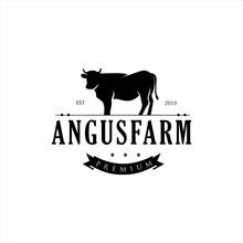 Retro Vintage Cattle Angus Bee...