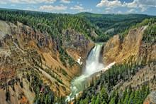 The Yellowstone Waterfalls  Wi...