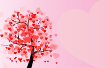 Valentine's Day, Love Tree Wit...