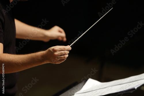 Fotografie, Obraz Mains de chef d'orchestre