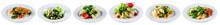 Set Of Fresh Salads Isolated O...