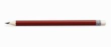 Simple Red Wooden Pencil On A ...