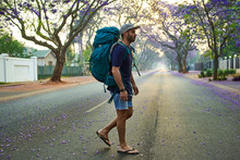 Backpacker Waking In The Street, Pretoria, South Africa