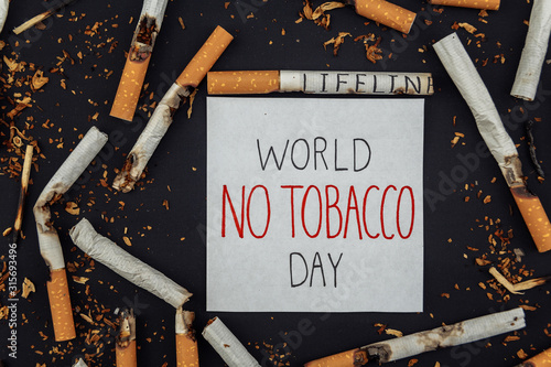 World No Tobacco Day Tablou Canvas