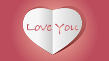 Red Heart Shape Love Icon With...