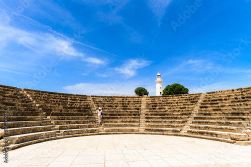 Carta da parati ancient amphitheater of the ancient Greeks in cyprus