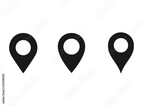 Fotografía Location pin icon vector Illustration,