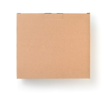 Top View Of Cardboard Blank Br...