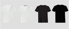 Set Of White And Black T-shirt...