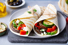 Wrap Sandwich With Grilled Veg...