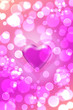 canvas print picture - Bright Pink Heart On Pink Background.