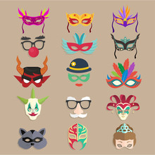 Collection Of Carnival Masks