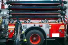 USA, New York, Fire Hoses Secu...