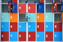 Rows Of Locker With Doors In D...