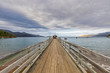 New Zealand, Diminishing perspective of pier in French Pass