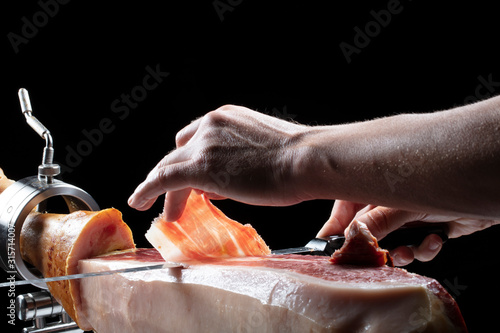corte de jamón iberico