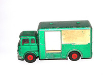 Vintage Tin Toy Vehicle Industrial Truck On White Background