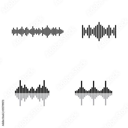 Sound waves vector illustration Canvas Print