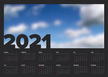 Dark Calendar Template For The...