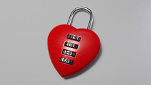 Red Padlock With Heart